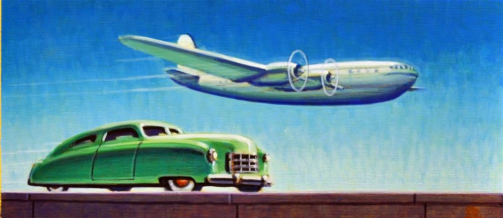 """Stratoliner"" original fine art by Robert LaDuke"