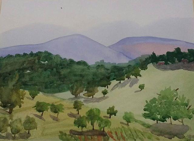 """Blue Ridge Afternoon II"" original fine art by Maria Peagler"