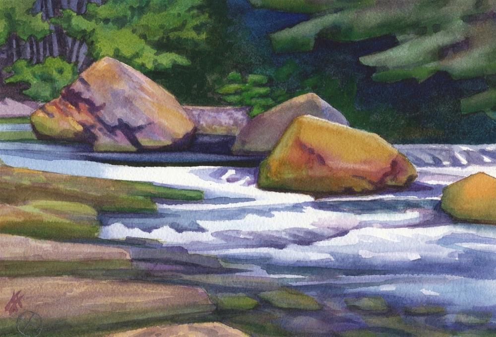 """Salmon Creek"" original fine art by Mark Allison"