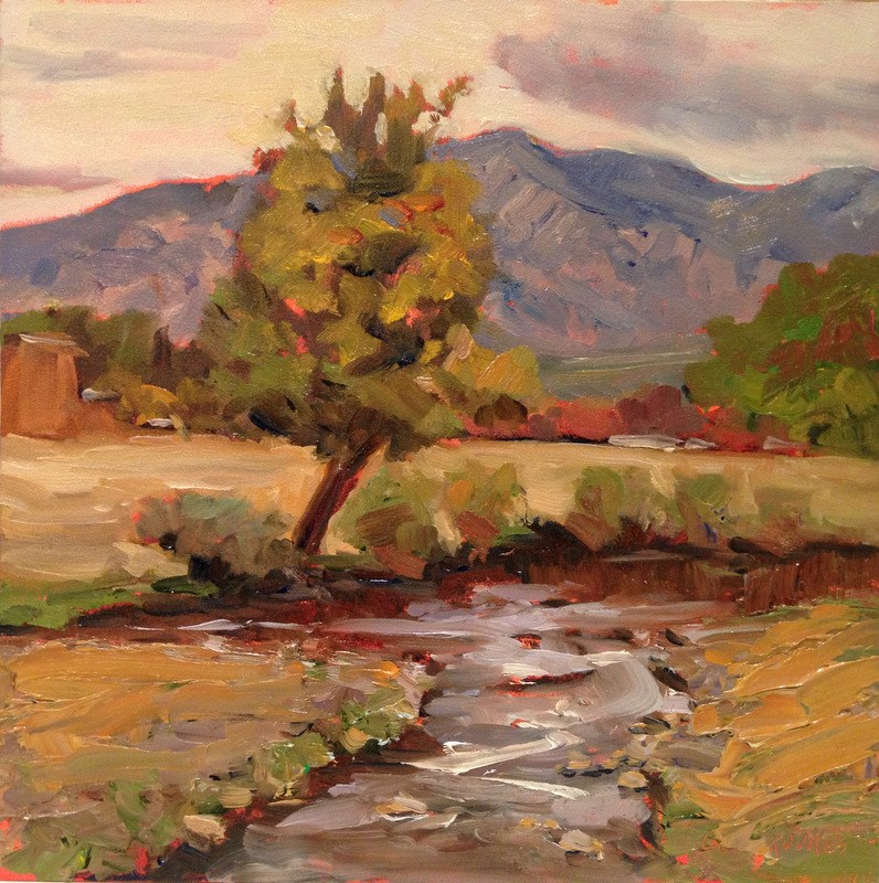 """Taos Tree II, Day 51"" original fine art by Claudia L Brookes"