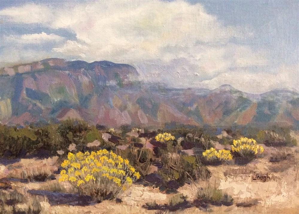 """Chamisa in New Mexico"" original fine art by Charlotte Lough"