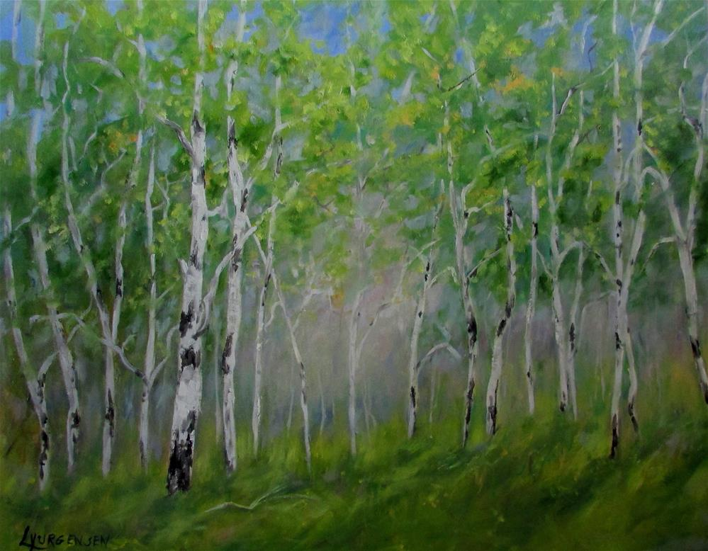 """24 x 30 inch oil Ode to Spring #2"" original fine art by Linda Yurgensen"