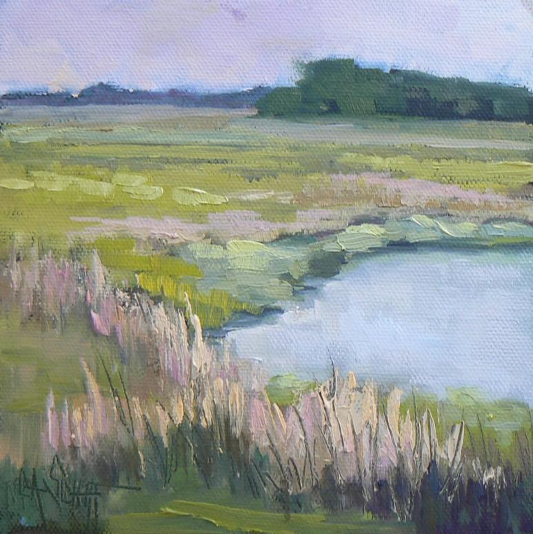 """Marshes of Maine"" original fine art by Carol Schiff"