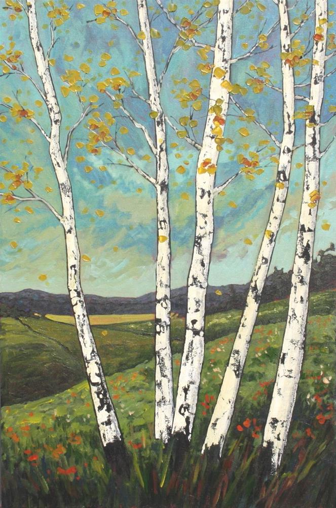 """Birch Hill"" original fine art by Sage Mountain"