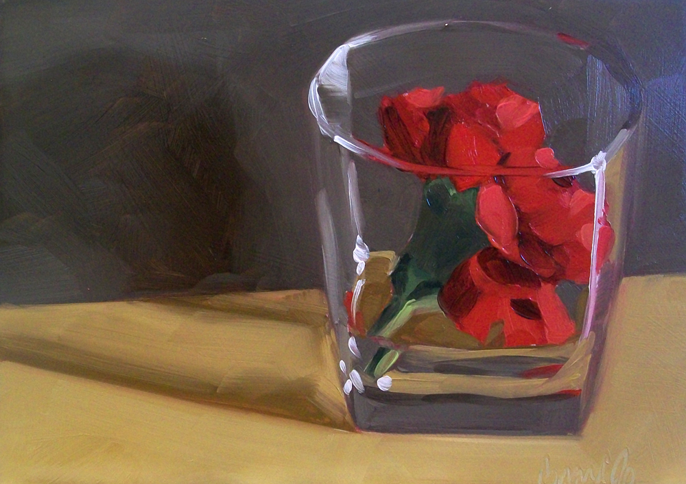 """glass of red"" original fine art by Brandi Bowman"