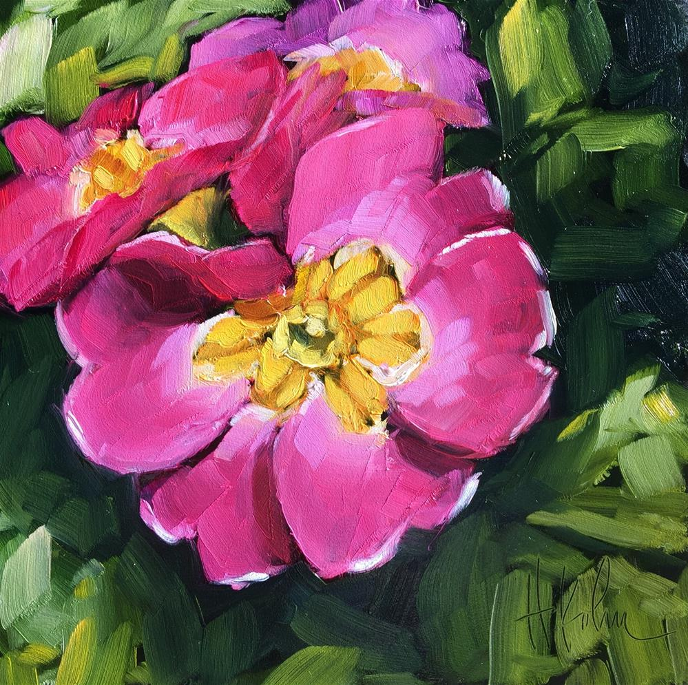 """Primrose"" original fine art by Hallie Kohn"
