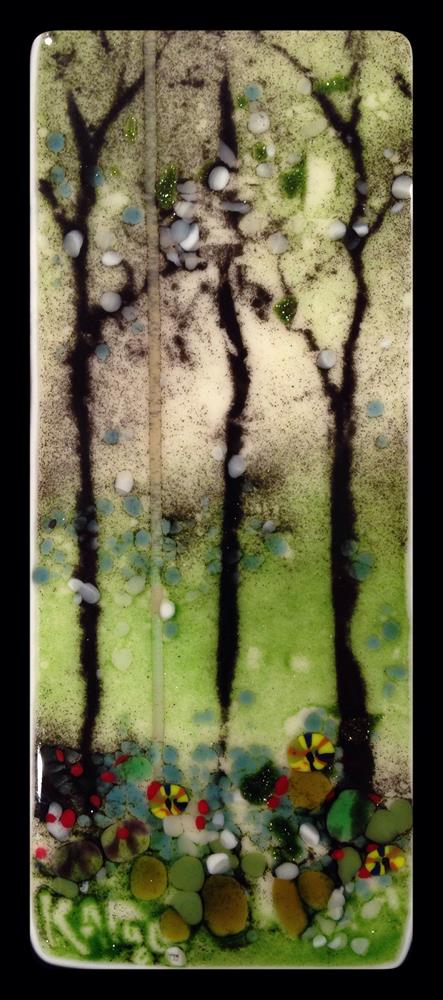 """Trio of Trees"" original fine art by Kelly Alge"