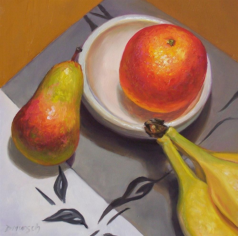 """""""Touch Fruitball"""" original fine art by Donna Munsch"""