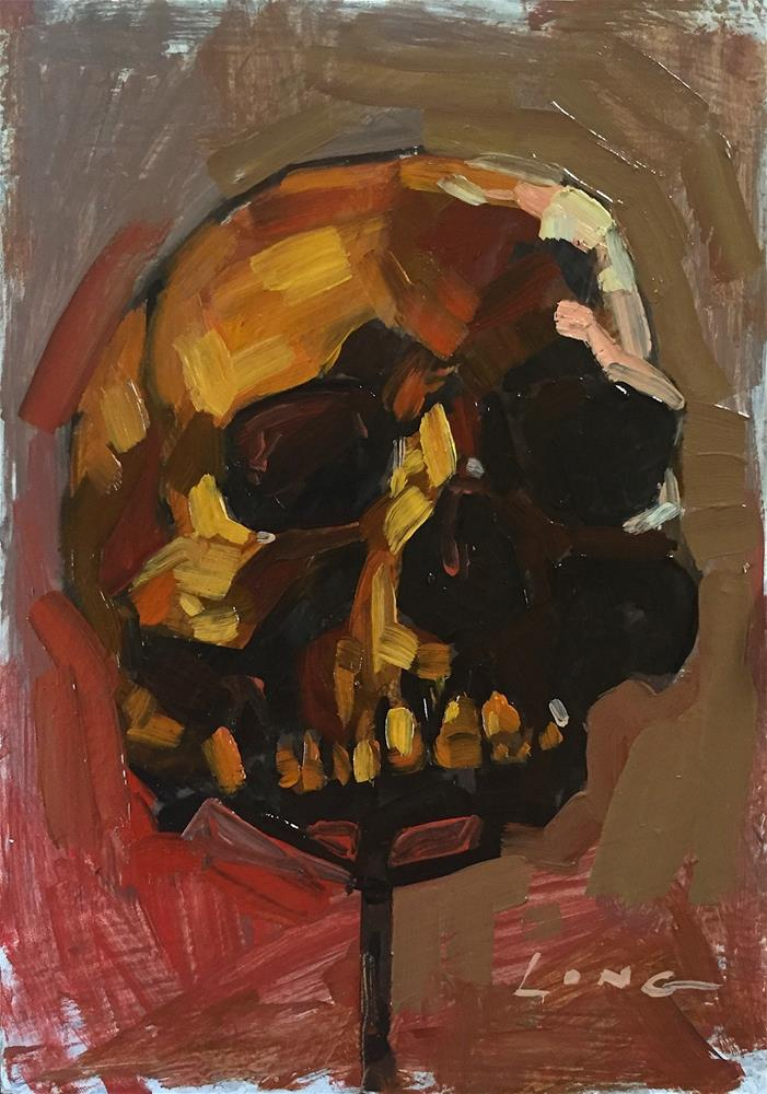 """Skull Study II"" original fine art by Chris Long"