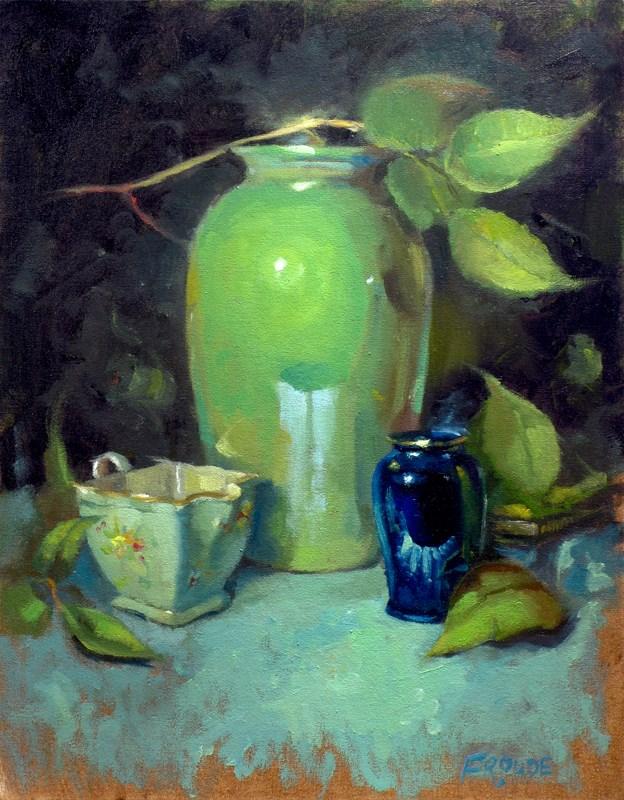"""Cozy"" original fine art by Dave Froude"