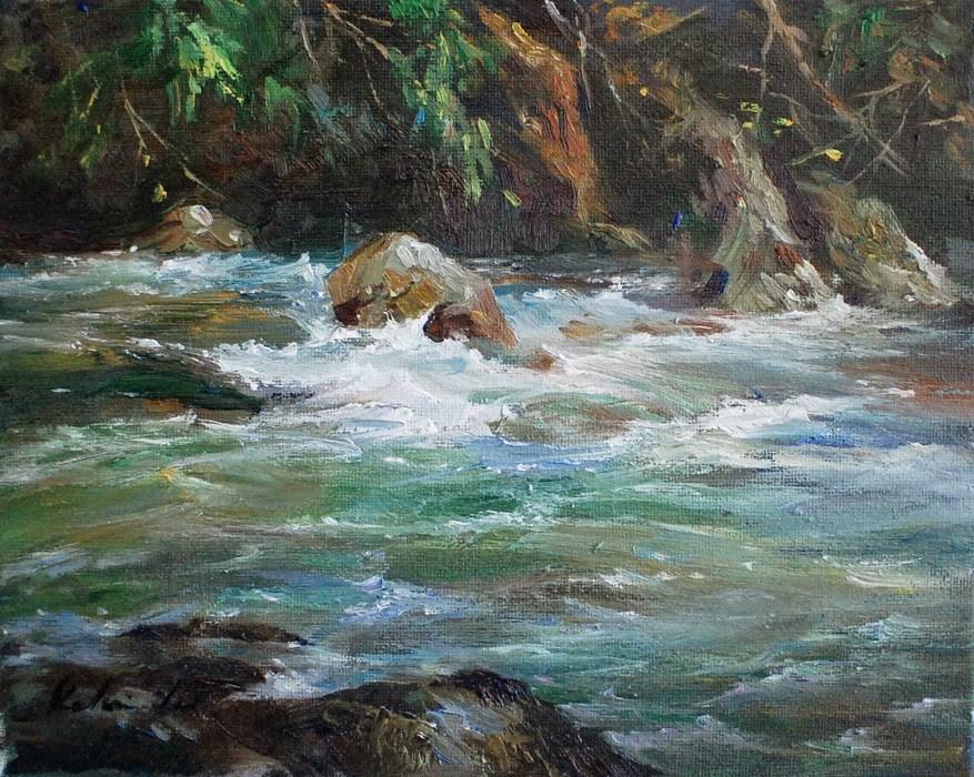 """River Series #7"" original fine art by Kelvin Lei"