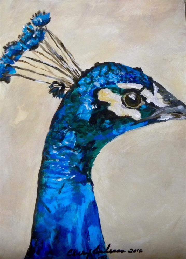 """Peacock"" original fine art by cheryl buhrman"