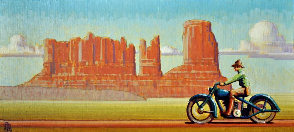 """Valley of Monuments"" original fine art by Robert LaDuke"