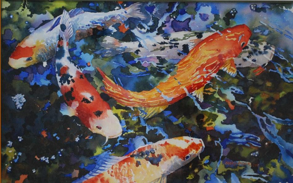 """""""Confetti Koi"""" original fine art by Mary Anderson"""