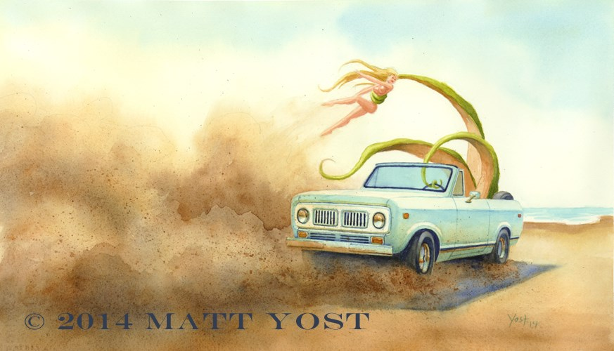 """Kidnapping"" original fine art by Matt Yost"