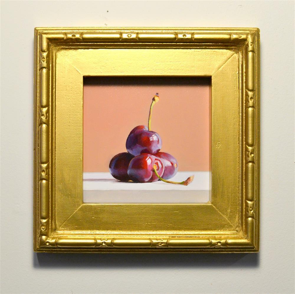 """Quatre Cerise"" original fine art by Brian Burt"