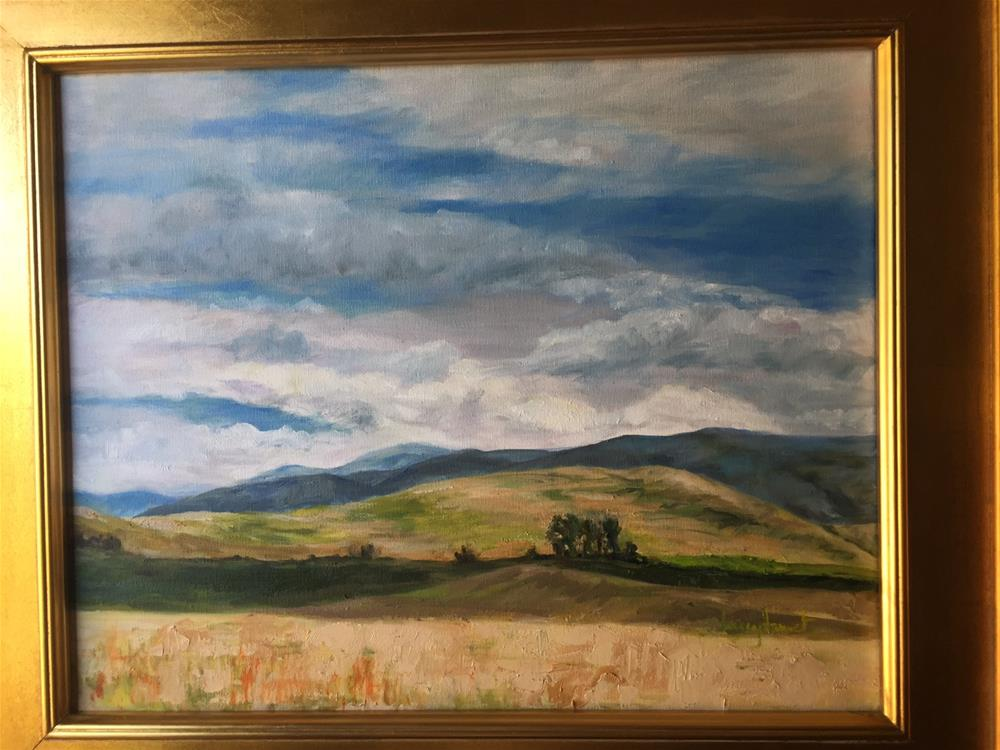 """Montana Symphony #5"" original fine art by Lucy Hammett"