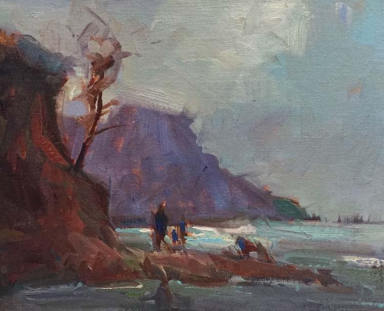 """""""The Cold Coastal Day"""" original fine art by Patti McNutt"""