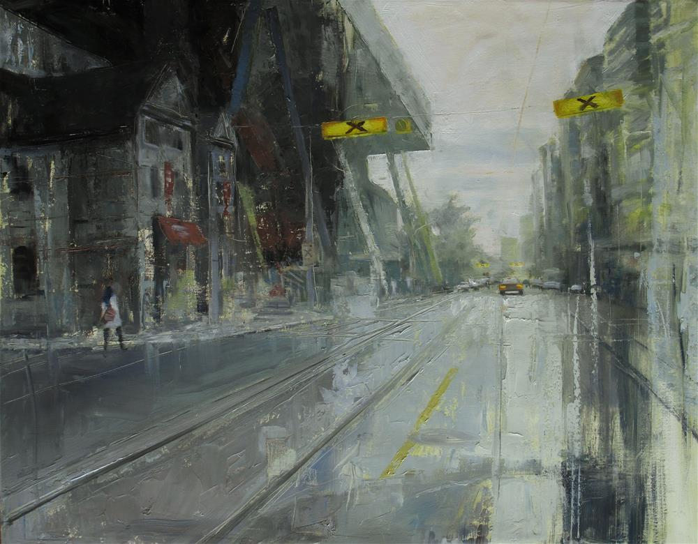 """North on McCaul"" original fine art by Zoran Rnjak"