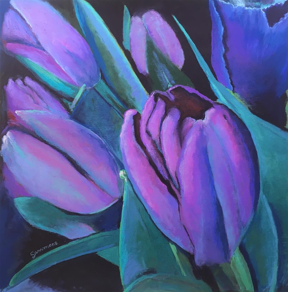"""Tulips"" original fine art by Laurie Sammons"