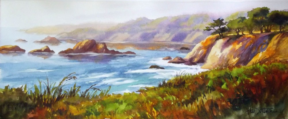 """Heavenly Headlands"" original fine art by Erin Dertner"