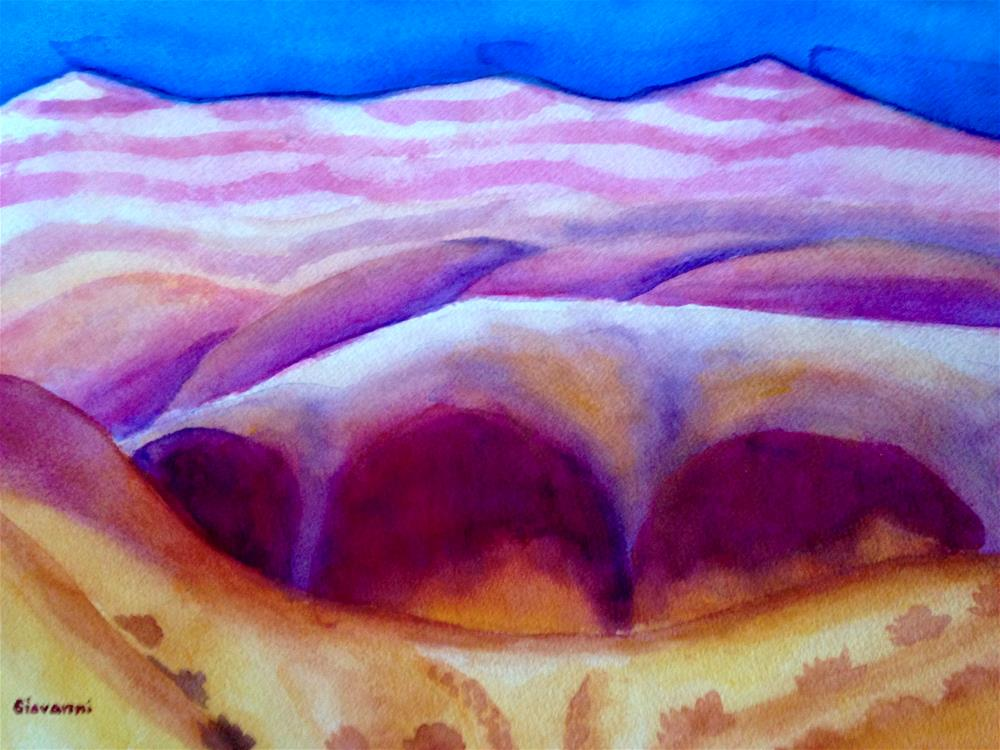 """Abstract #9 (An abstract of the Badlands)"" original fine art by Giovanni Antunez"