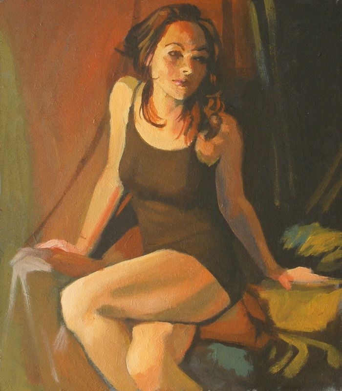 """Brown dress"" original fine art by Peter Orrock"