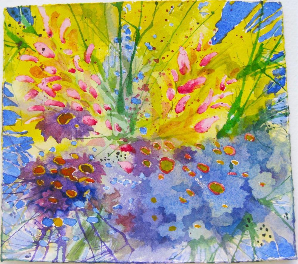 """""""Floral Splash"""" original fine art by Eileen Hennemann"""