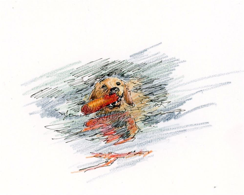 """""""Henry Sketch"""" original fine art by Susanne Billings"""