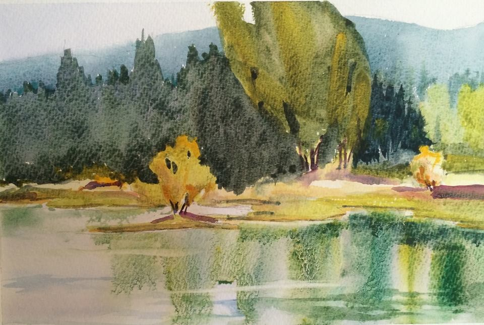 """Cruising Along the Loire"" original fine art by Peter Wellington"