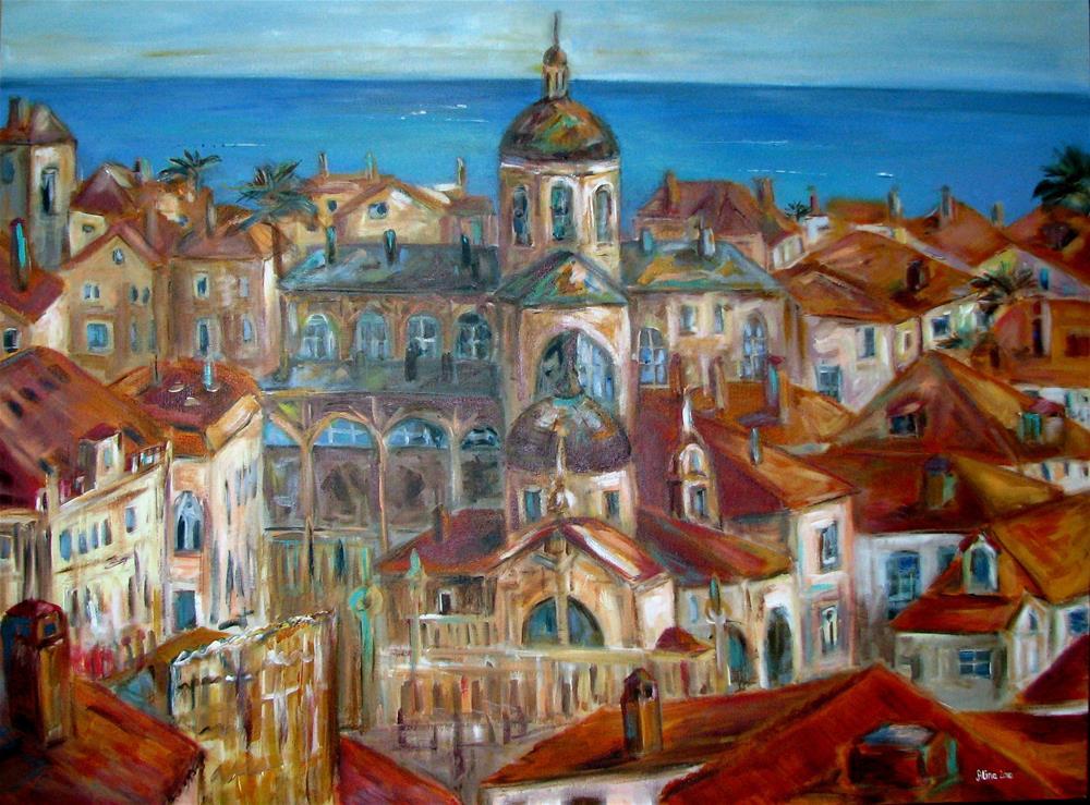 """""""Dubrovnik"""" original fine art by Alina Vidulescu"""