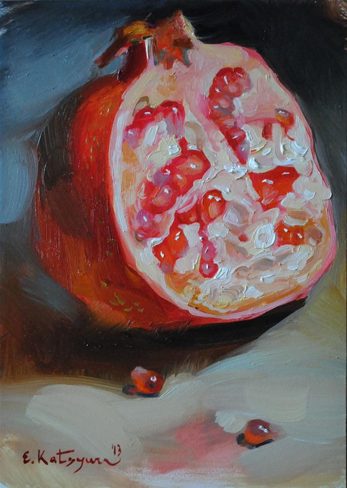 """Half a Pomegranate"" original fine art by Elena Katsyura"