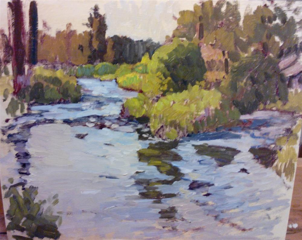 """Deschutes river"" original fine art by Nathan Sowa"