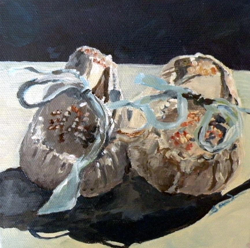 """Baby Shoes"" original fine art by Saundra Lane Galloway"