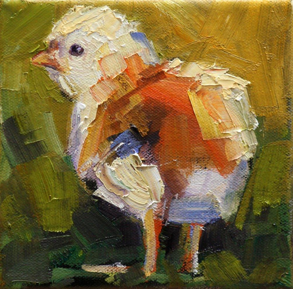 """barnyard baby"" original fine art by Carol Carmichael"