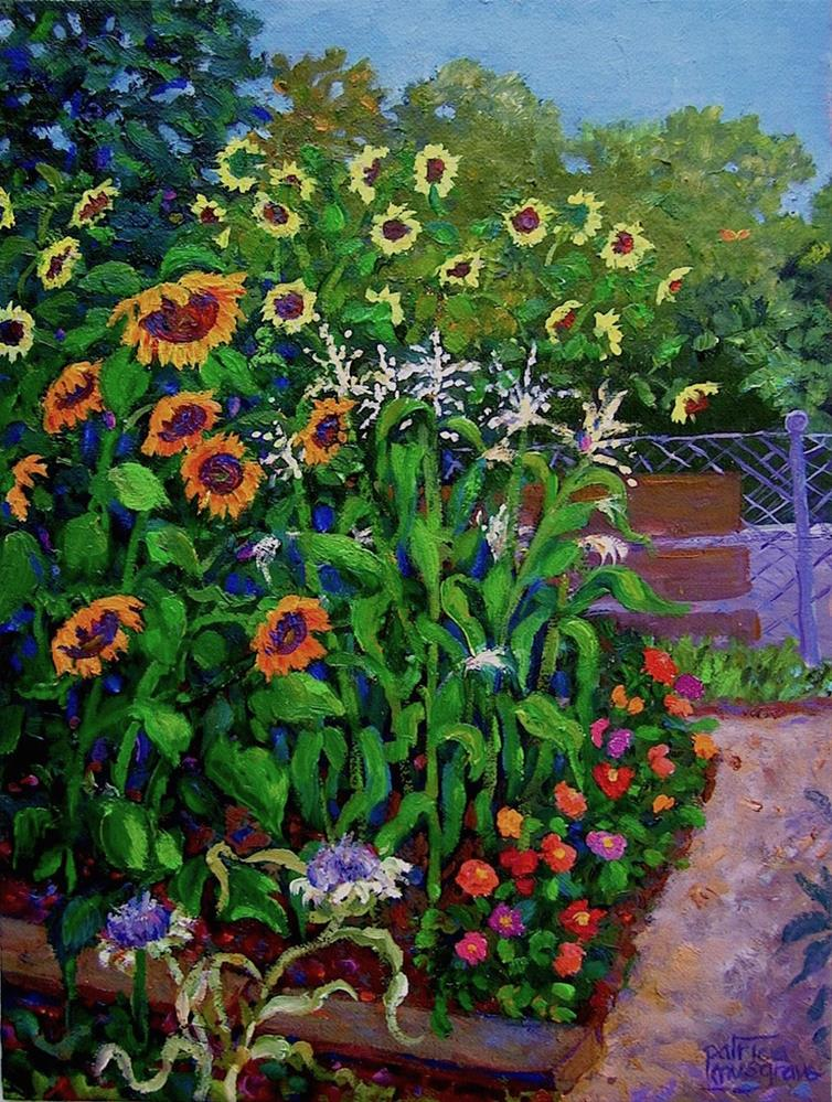 """The Sunflower Plot"" original fine art by Patricia Musgrave"