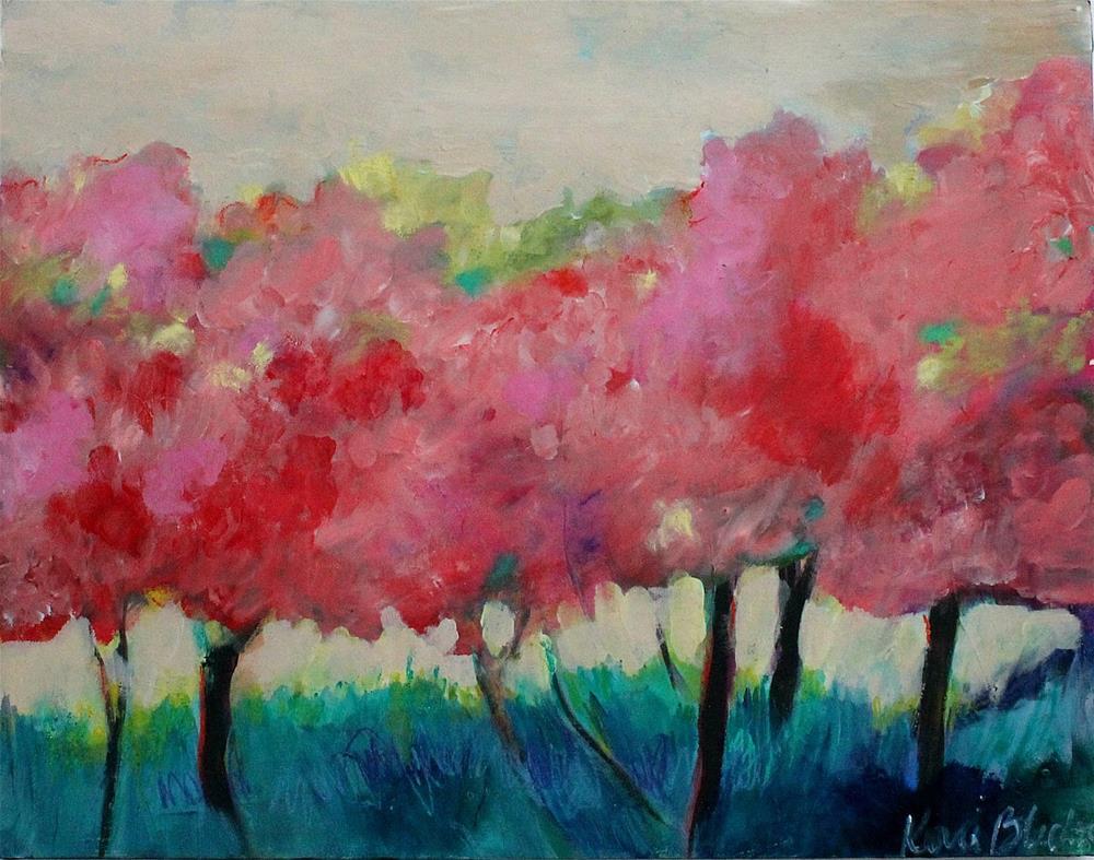 """Dance of the Cherry Trees"" original fine art by Kerri Blackman"