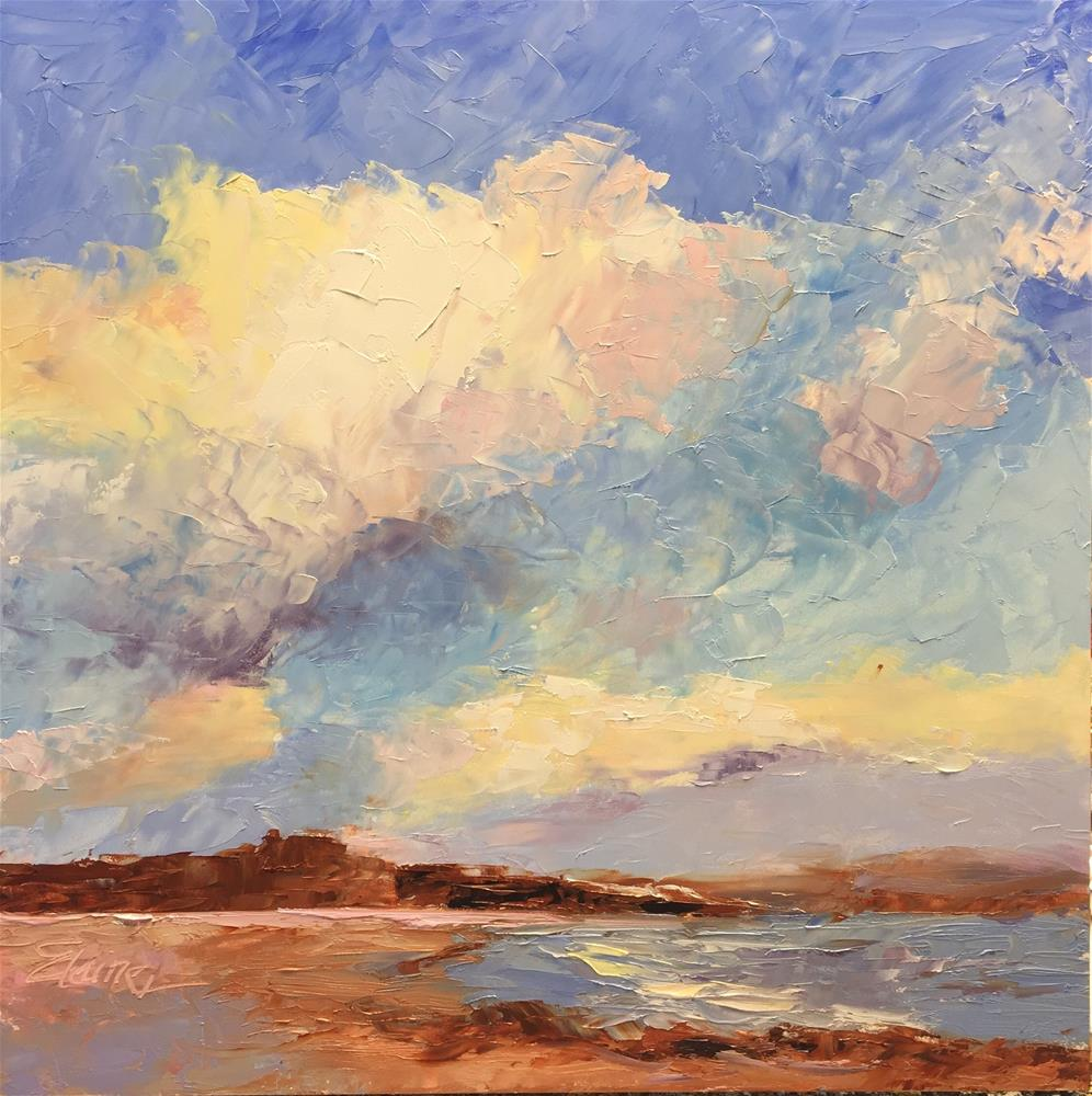 """Clouds at the Bay"" original fine art by Elaine Ford"