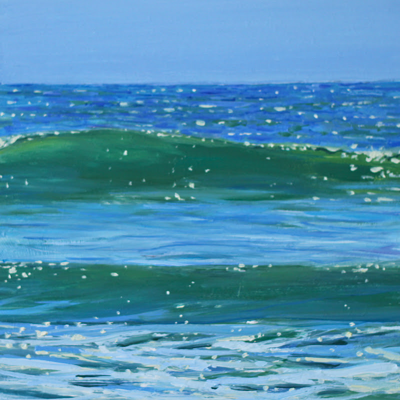 """New Wave"" original fine art by Ken Devine"