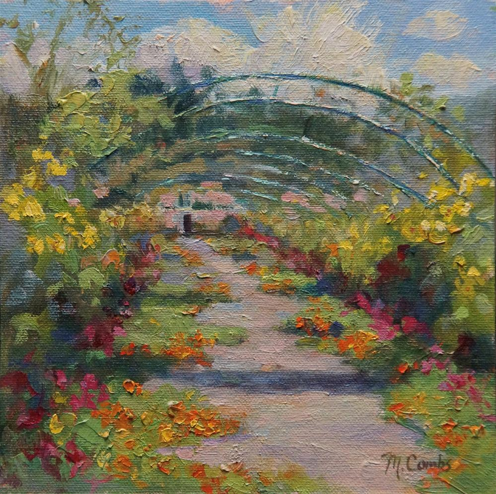 """Monet's Garden"" original fine art by Michele Combs"