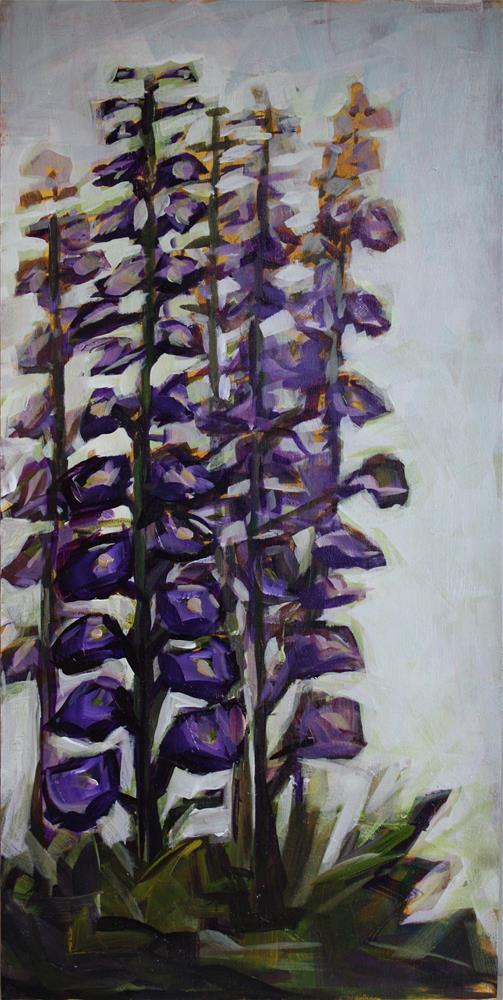 """Delphinium Abstract"" original fine art by Kandice Keith"