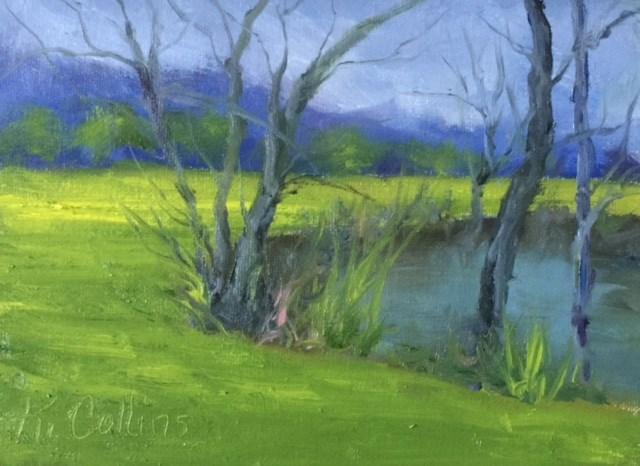 """Creekside"" original fine art by Kathy Collins"