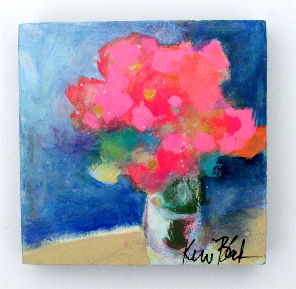 """Pink Roses "" original fine art by Kerri Blackman"