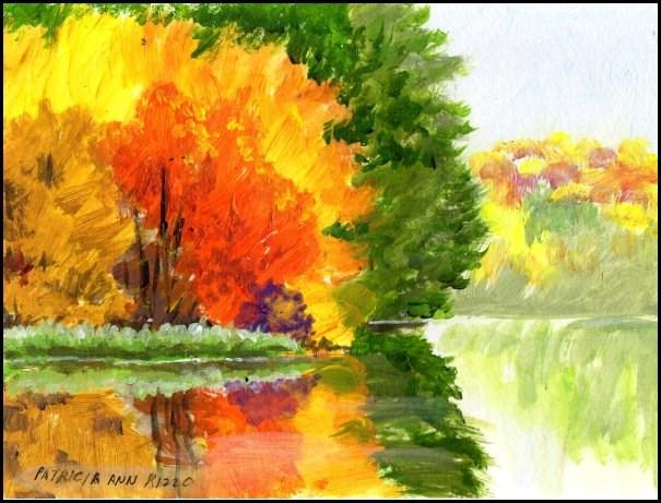"""A Nice Quiet Spot"" original fine art by Patricia Ann Rizzo"
