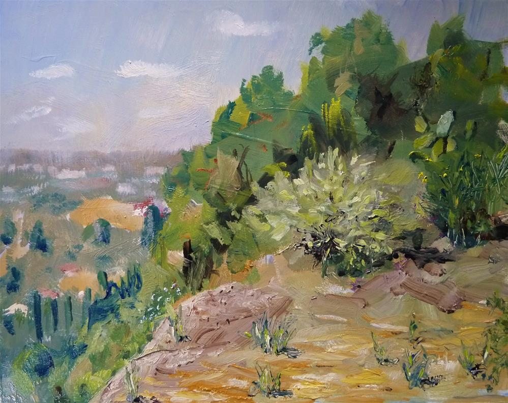 """Mulholland Overlook"" original fine art by Gary Bruton"
