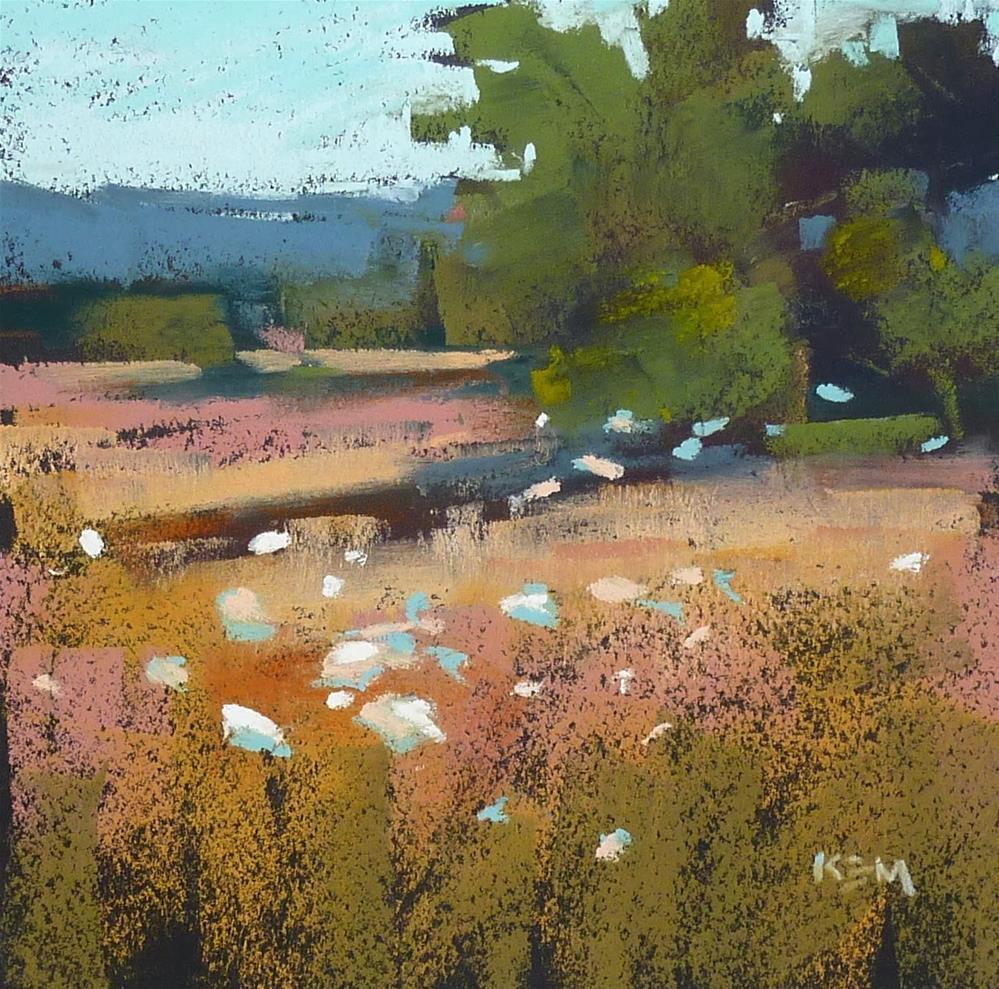 """A Simple Approach to a Landscape Painting"" original fine art by Karen Margulis"
