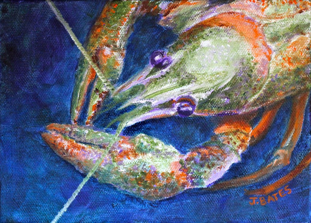 """Crayfish"" original fine art by Jill Bates"