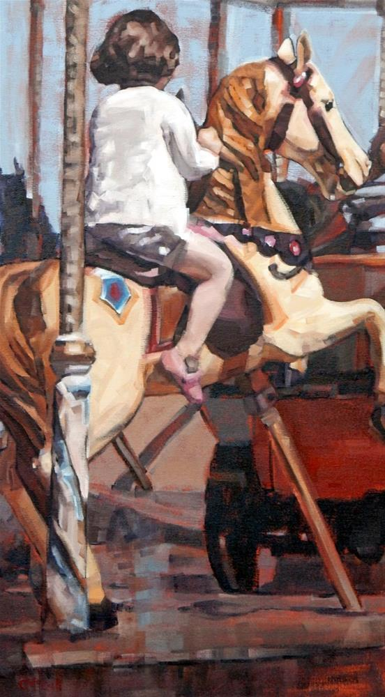 """Merry-Go-Round II"" original fine art by Claire McCall"