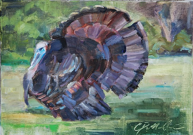 """Strutting His Stuff"" original fine art by Carol DeMumbrum"