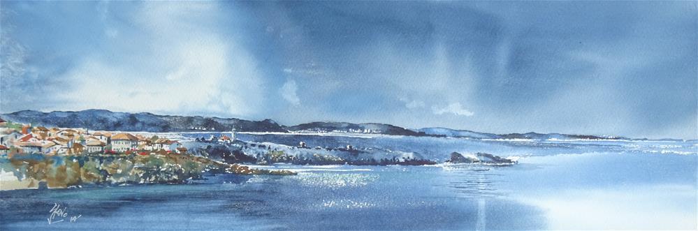 """Storm over the Stara Planina"" original fine art by Martin Stephenson"